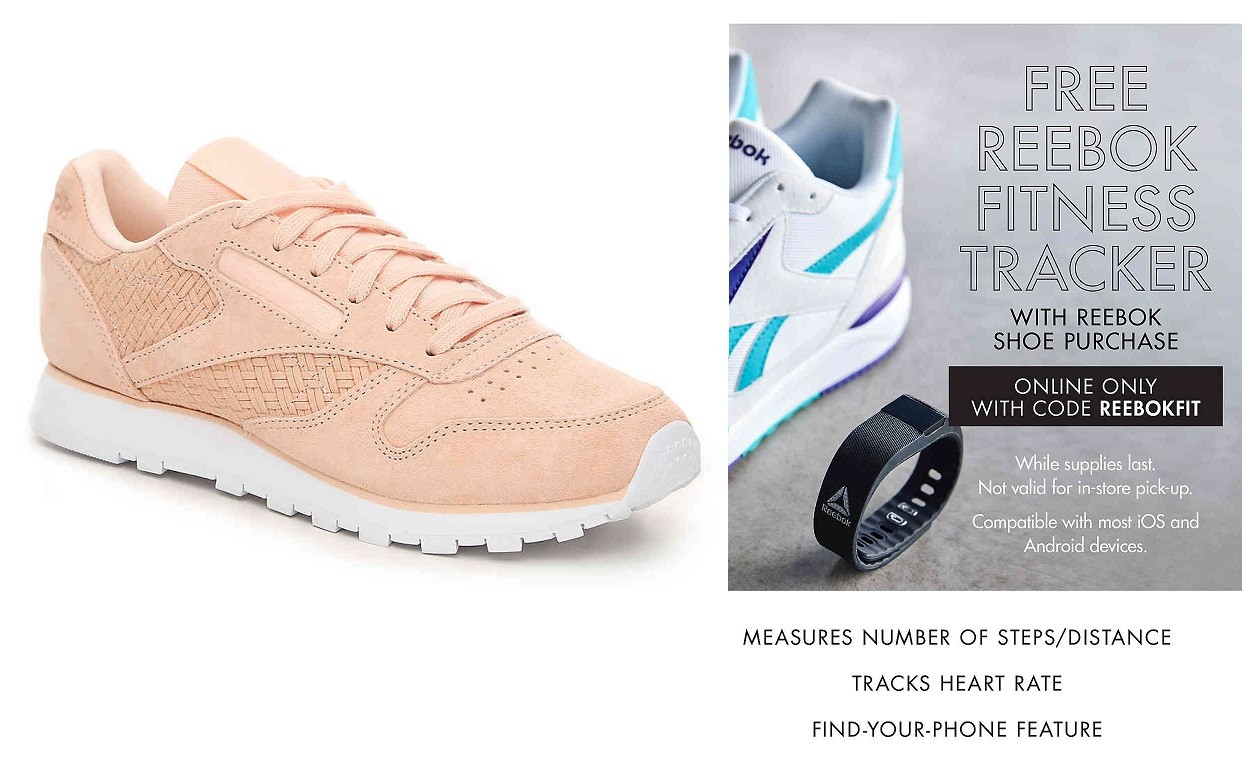 cheap for discount aed59 80630 DSW  Classic Reebok Woven Sneakers + Rebook Fitness Tracker – only  40  Shipped + MORE!