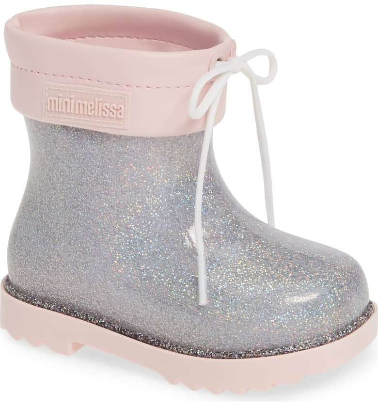 a66df5caea1 Nordstrom  Mini Melissa Glitter Water Resistant Rain Booties – 40% Off + Free  Shipping!