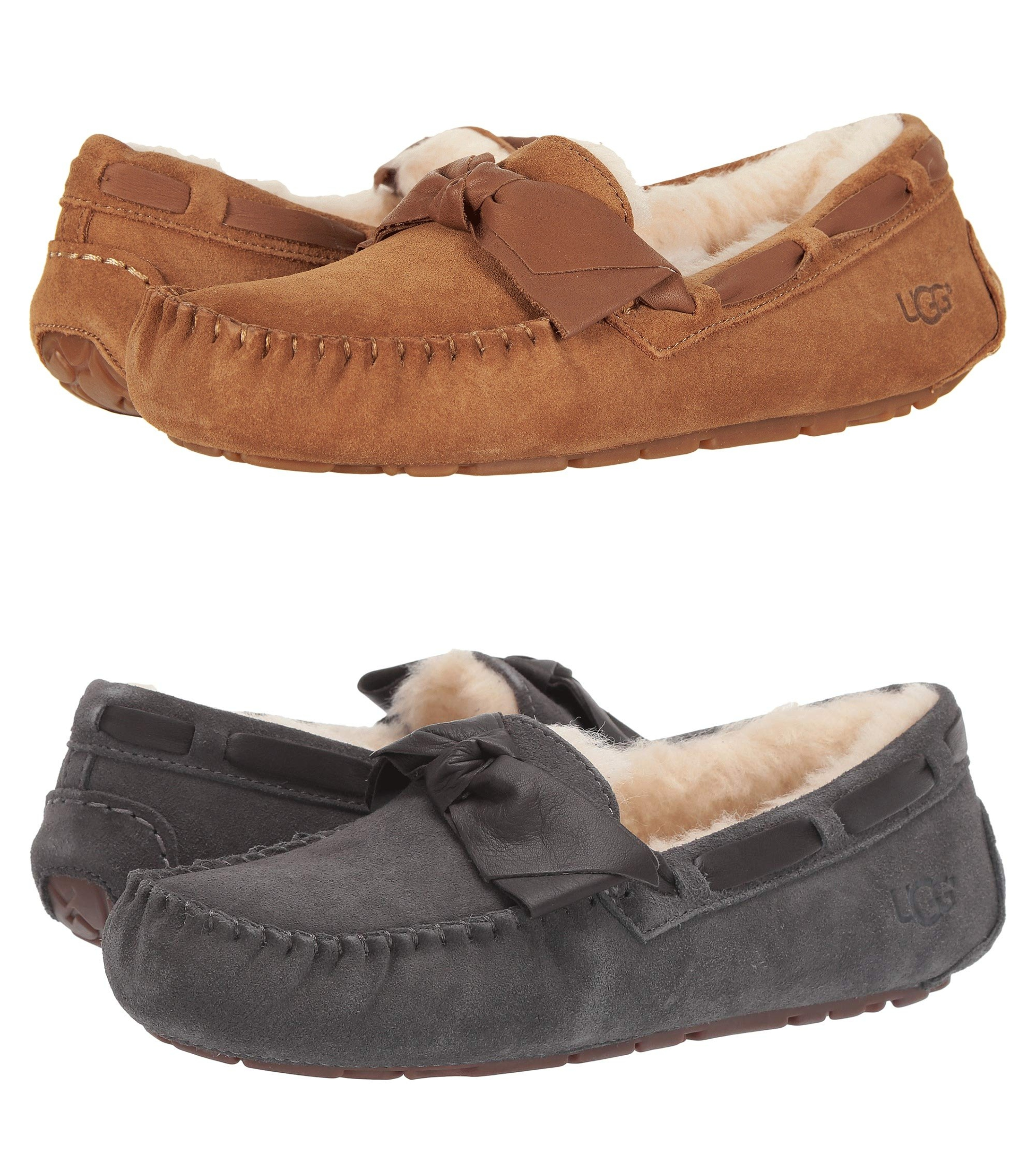 a93c65c61d6 Zappos: UGG Dakota Leather Bow Slippers – 46% Off + Free Shipping ...