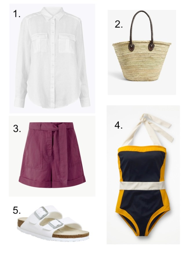 summer holiday essentials linen shorts