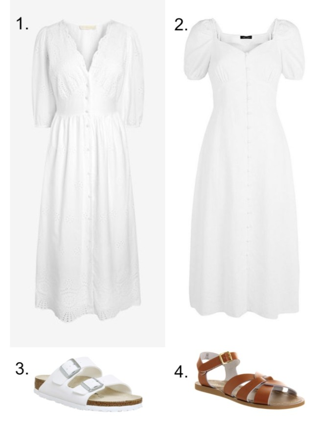 white midi dresses summer