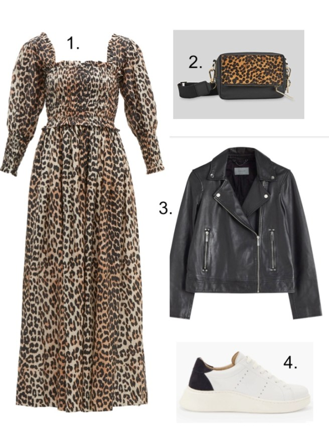 a dress for all seasons Ganni Leopard