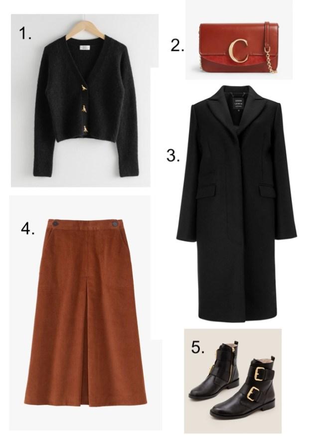corduroy classics midi skirt