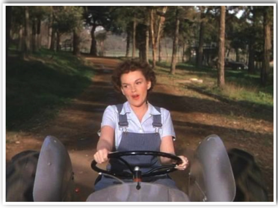 Judy Garland in Dungarees