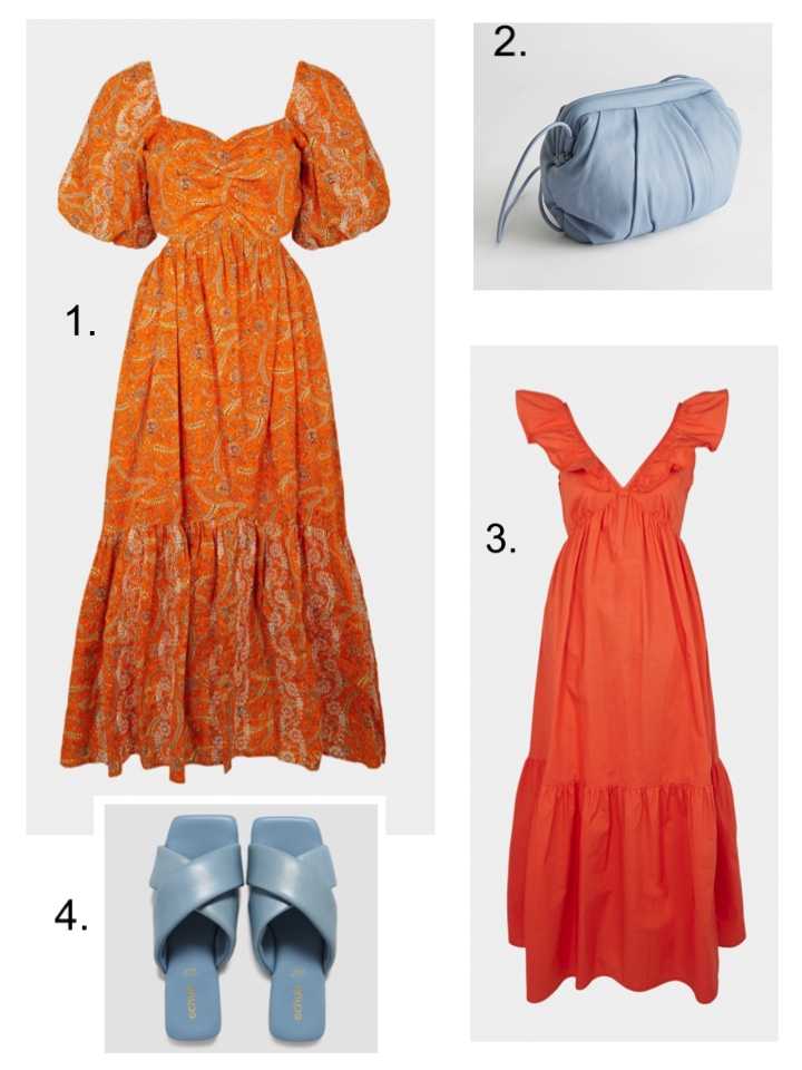 best dressed guest orange warehouse dress