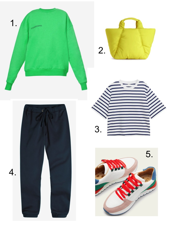 Super sweatshirts and top level trainers