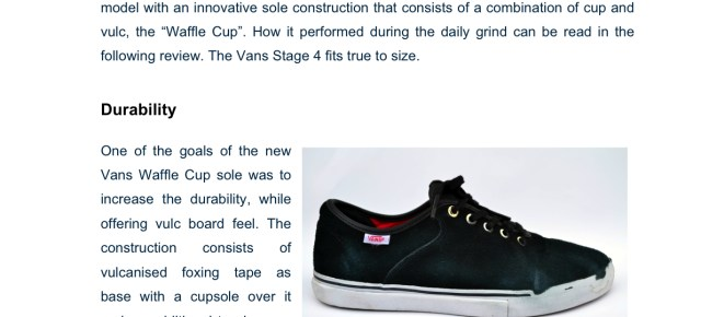 Vans Stage 4 review