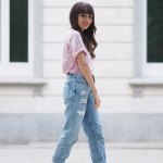 Pink Velvet Top Spring Outfit