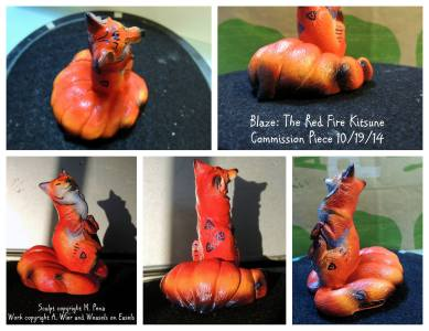 Blaze the Kitsune Sculpt Copyright Windstone Editions and M. Pena