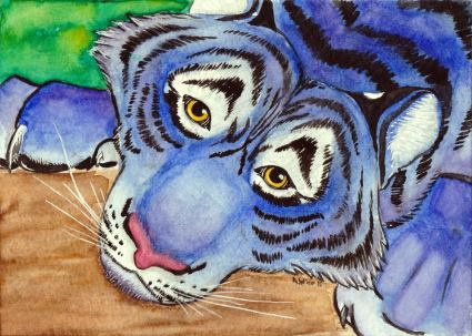 """""""Wistful and Weary"""" W&N Watercolor on Strathmore 400 Series Coldpress Watercolor Paper 5"""" x 7"""""""