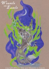 """""""Sing a Song of Fire"""" in colored pencil"""