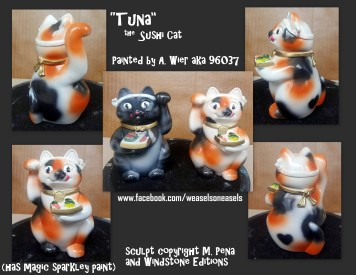 Tuna the Female Sushicat Sculpt Copyright Windstone Editions and M. Pena