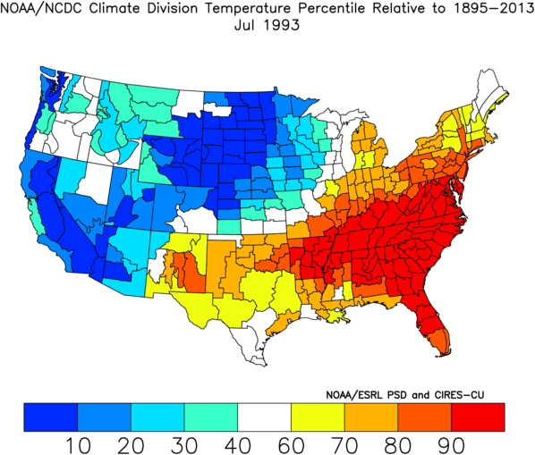 Historic Heat Waves in the Carolinas