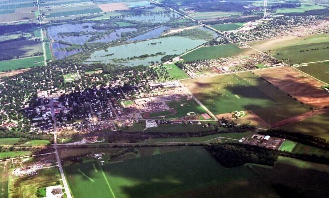 Plainfield tornado Damage Arial Photo #1