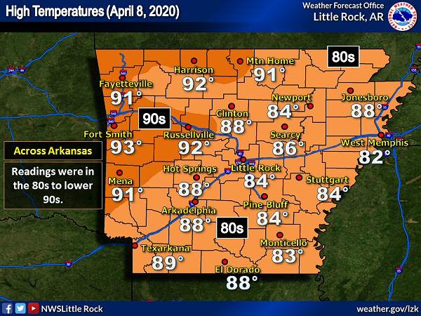 Nws Little Rock Ar April 2020 Storm Report