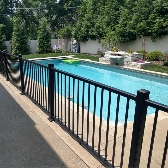 36 Stanford Aluminum Railing Railing Weatherables | Aluminum Railings For Steps | Porch | Wood Wall Mounted Stair | Solid Wood | Custom Treated | Modern