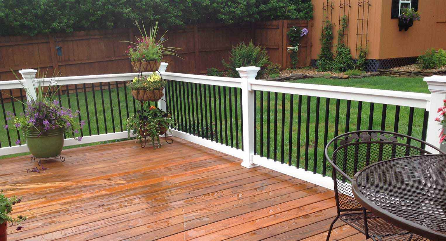 vinyl deck porch railing railing