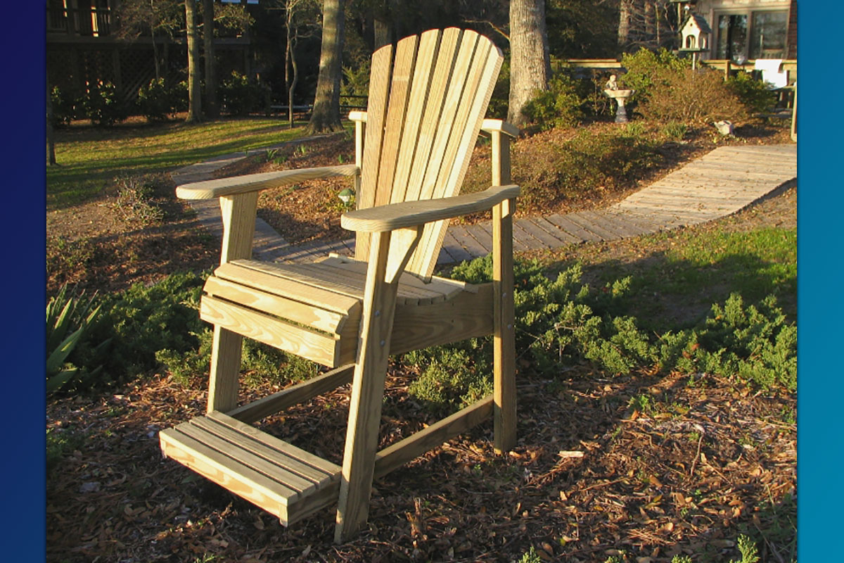 unfinished adirondack chair revolving olx karachi the balcony pub perfect for viewing over