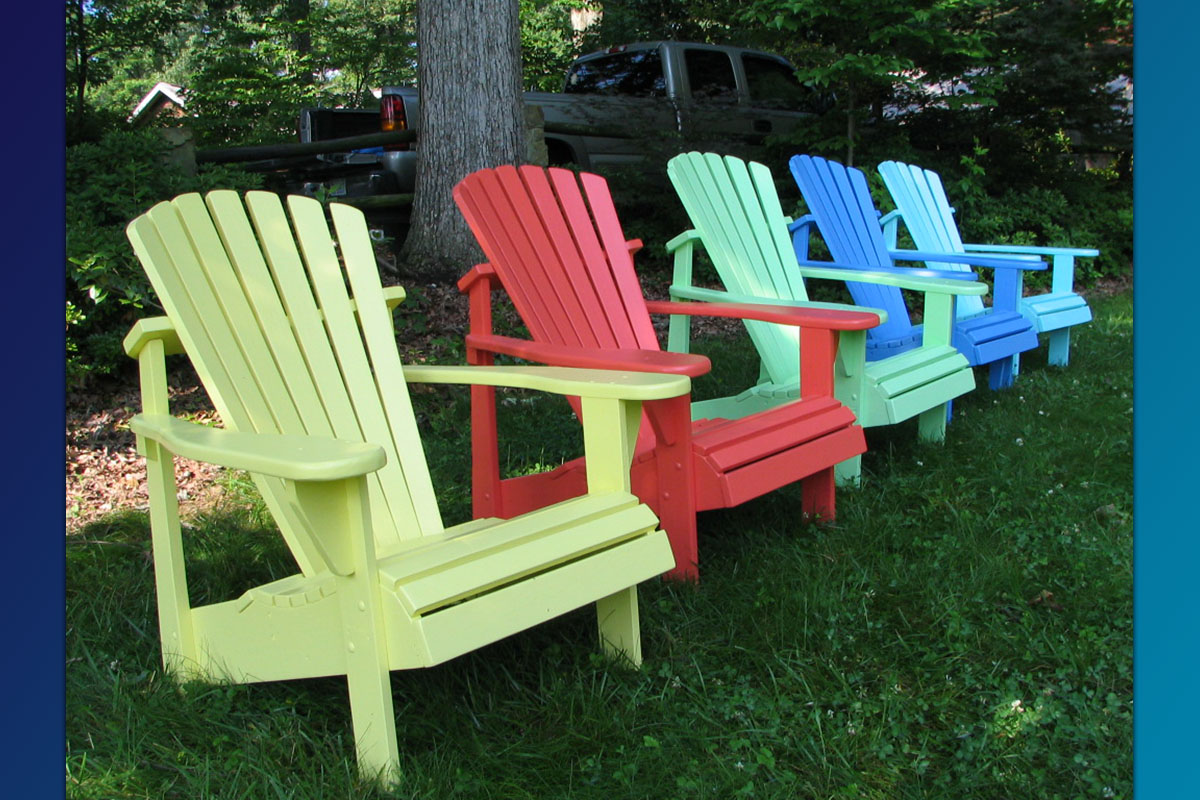 painted adirondack chairs rattan chair and ottoman classic series great quality construction