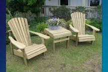 Paint Pine Adirondack Chairs. Painting