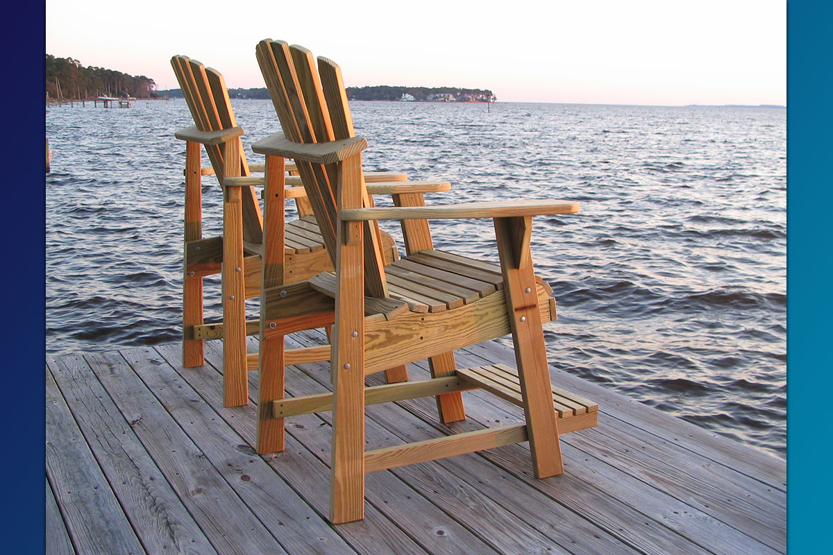 unfinished adirondack chair desk for sale the balcony pub perfect viewing over