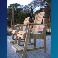 Unfinished Adirondack Chair Zanotta Covers The Balcony Pub Perfect For Viewing Over