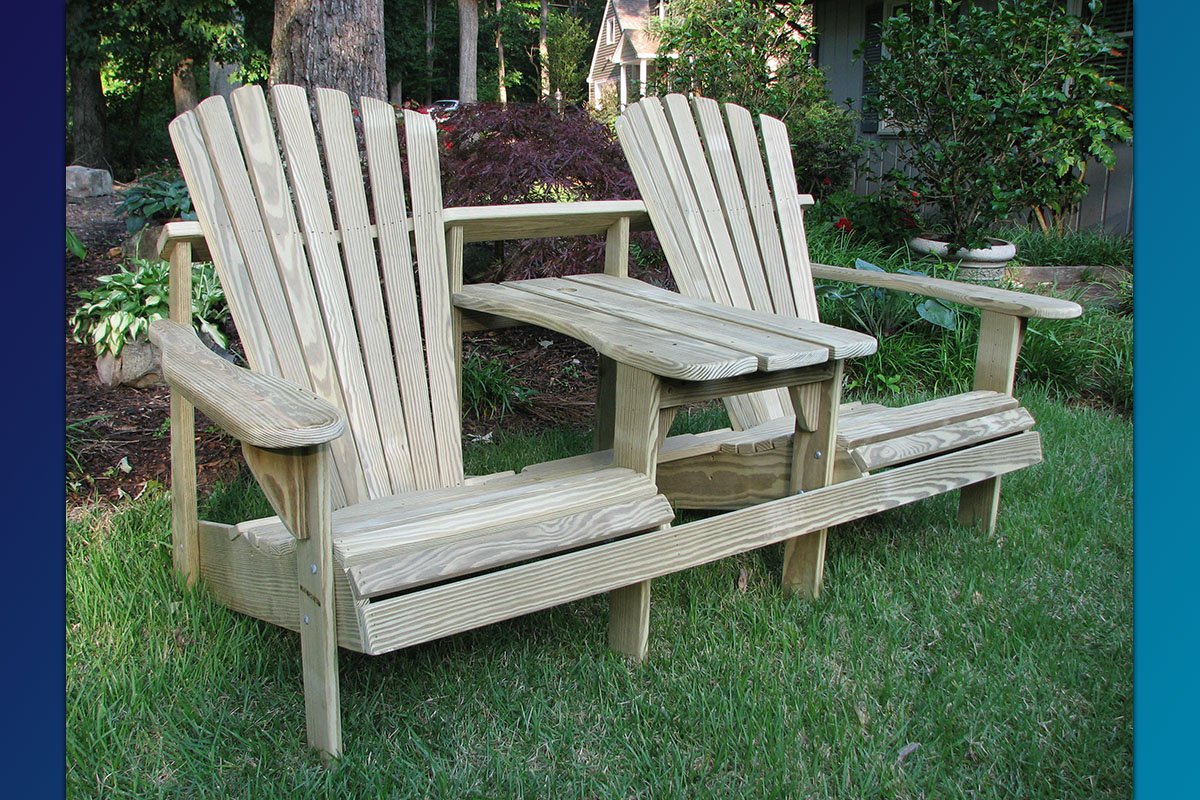 double adirondack chairs with umbrella french our seater or tete a is the