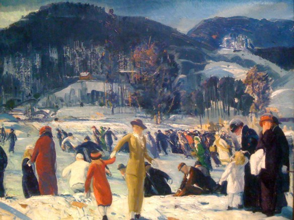 """Love of Winter"", 1914 by George Bellows.  Collection of the Art Institute of Chicago"