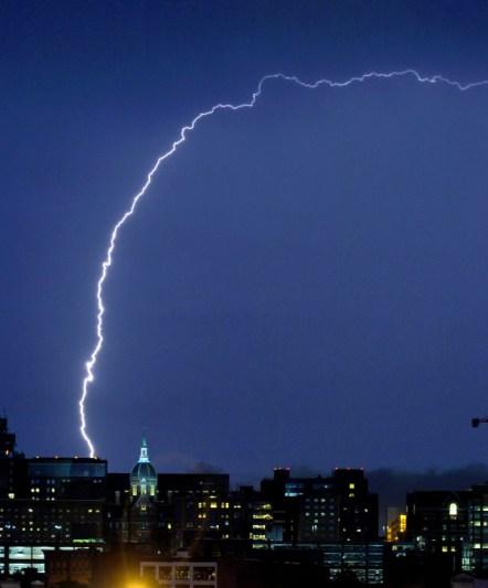 Positive Lightning.  Credit: MD Weather