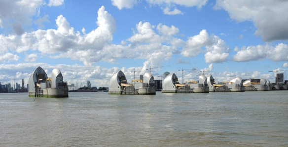 The Thames Barrier protects London from flooding. Credit: Melissa Fleming.