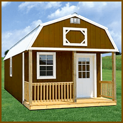 Weatherking Painted Lofted Cabin