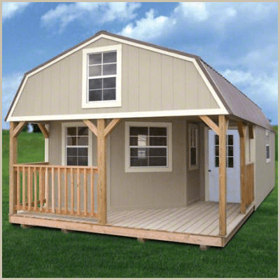 Weatherking Private Storage Painted Deluxe Lofted Barn Cabin