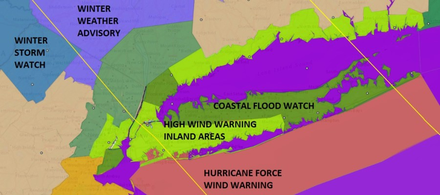 hurricane force wind