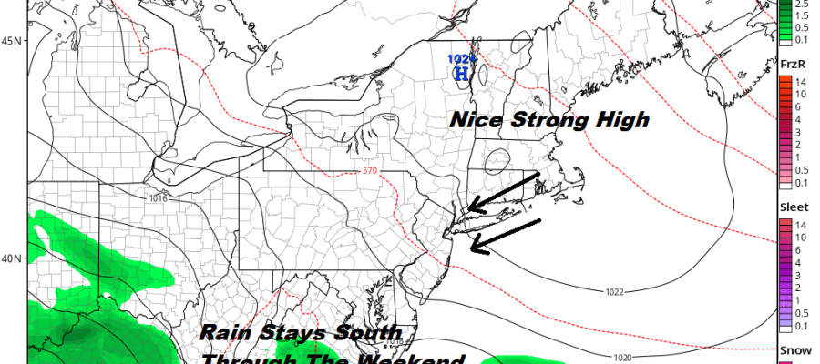 Long Island Weather Weekend Nice Comfortable Rain Monday