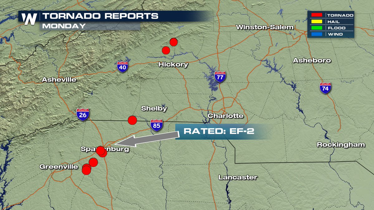 NWS Says EF2 Tornado Touched Down in Spartanburg South