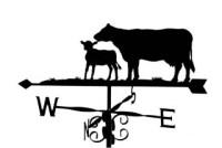 Cow and Calf Weathervanes, Wind Vanes, Weathercock ...