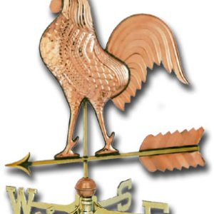 Rooster Copper Weathervane-0