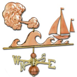 Sailors Delight Copper Weathervane-0