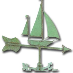 Sailboat Garden Copper Weathervane-0