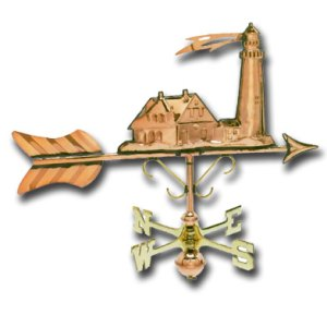 Lighthouse Garden Copper Weathervane-0