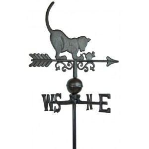 Steel Cat Weathervane-0