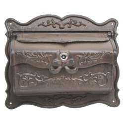Victorian Solid Steel Mailbox Ornate Old Days Design-0