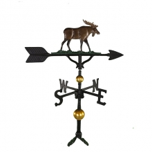 "Old Barn Rustic Co. 32"" Deluxe Moose Aluminum Weathervane -0"