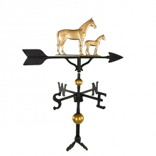 """Old Barn Rustic Co. 32"""" Deluxe Mare and Colt Aluminum Weathervane-0"""