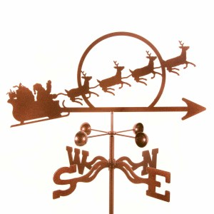 Santa with Sleigh Weathervane-0