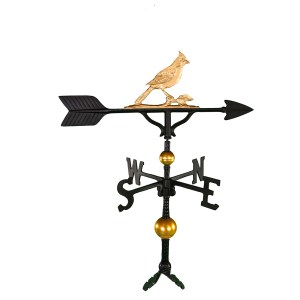 "Old Barn Rustic Co. 32"" Deluxe Cardinal Aluminum Weathervane-0"