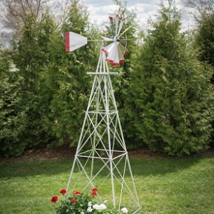 Ten Foot Ornamental Aluminum Windmill-0