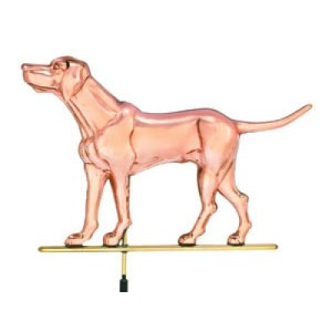 Polished Labrador Retriever Copper Weathervane-0