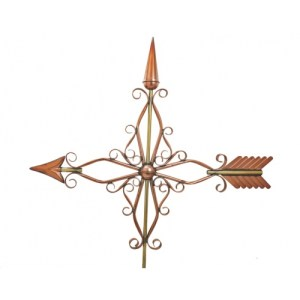 Victorian Arrow Polished Copper Weathervane-0