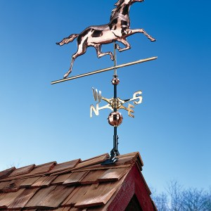 Copper Horse Weathervane-0